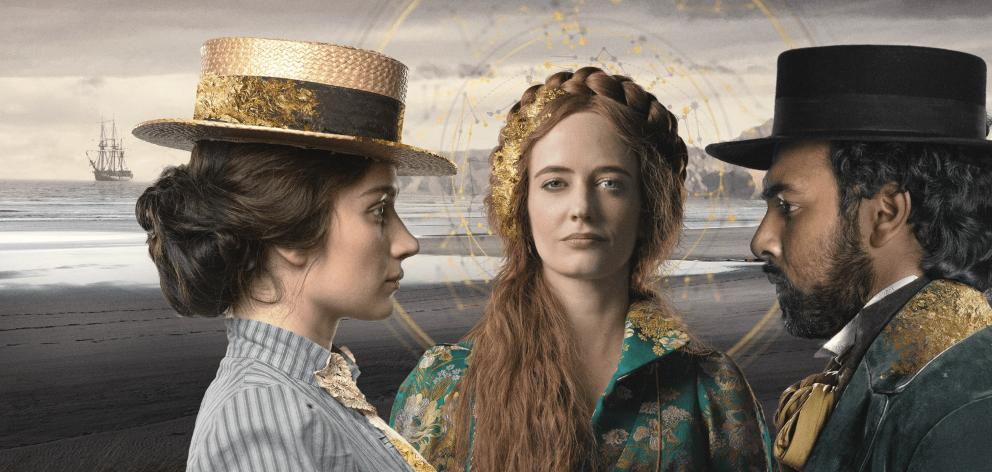 Lead characters, from left: Anna (Eve Hewson), Lydia (Eva Green) and Emery (Himesh Patel). Photo:...