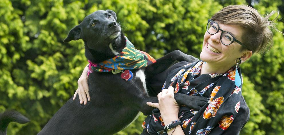 US-born doctoral student Hannah Mello and her Labrador-cattle dog cross Quercus are reunited in...