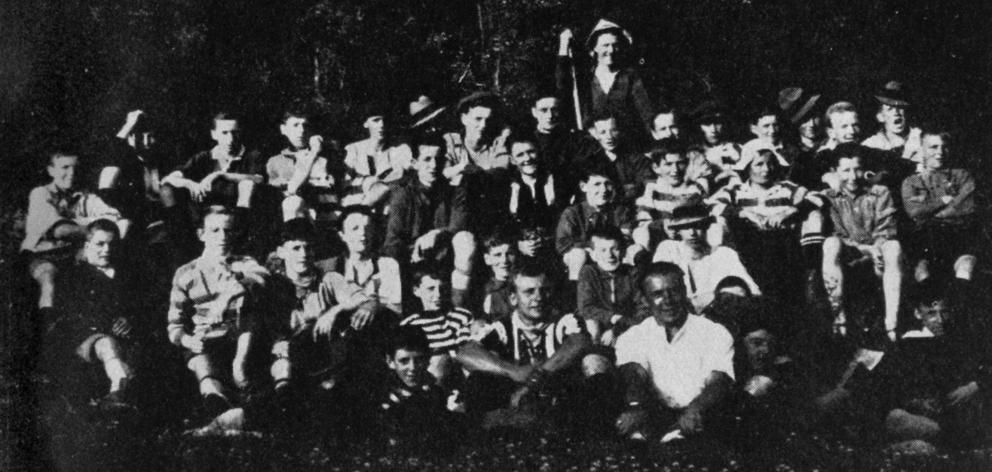 The Dunedin YMCA boys' camp at Outram. — Otago Witness, 1.2.1921.