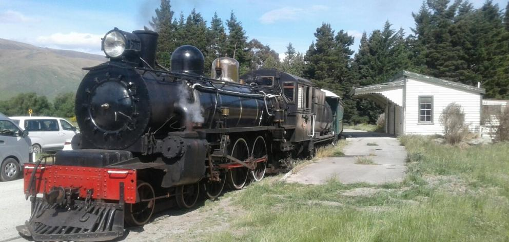 The Kingston Flyer at Fairlight Station, near Garston, in 2019.PHOTO: ODT FILES