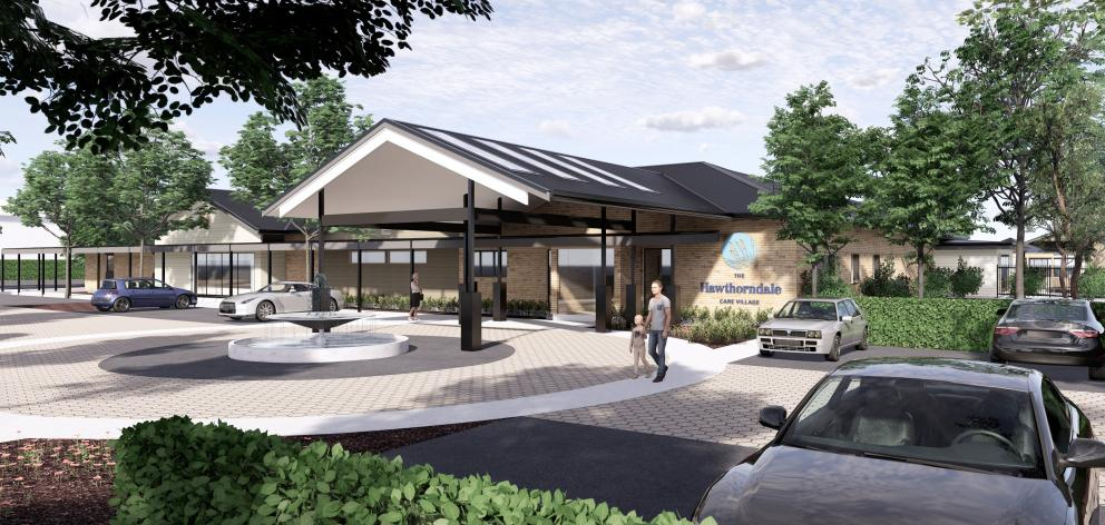 An artist's impression of the entrance to the Hawthorndale Care Village 