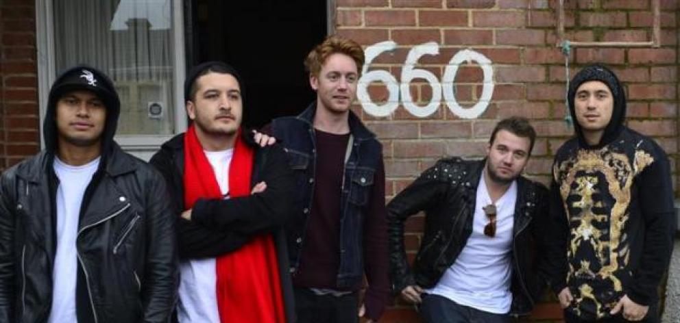 SIX60 from left: Eli Paewai, Matiu Walters, Ji Fraser, Chris Mac and Marlon Gerbes. Photo: ODT...