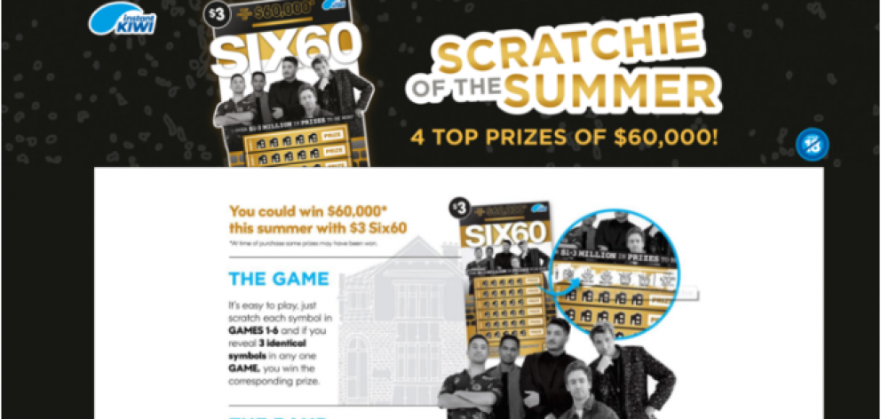 Popular Kiwi band Six60 have been criticised over its association with Lotto promotional material...