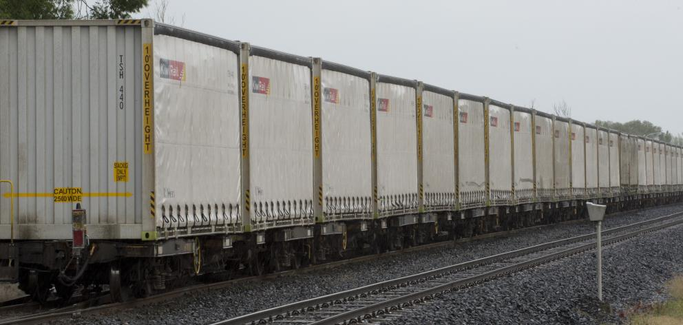 A train carrying milk powder from Edendale to Dunedin remains stranded at Henley after the main...