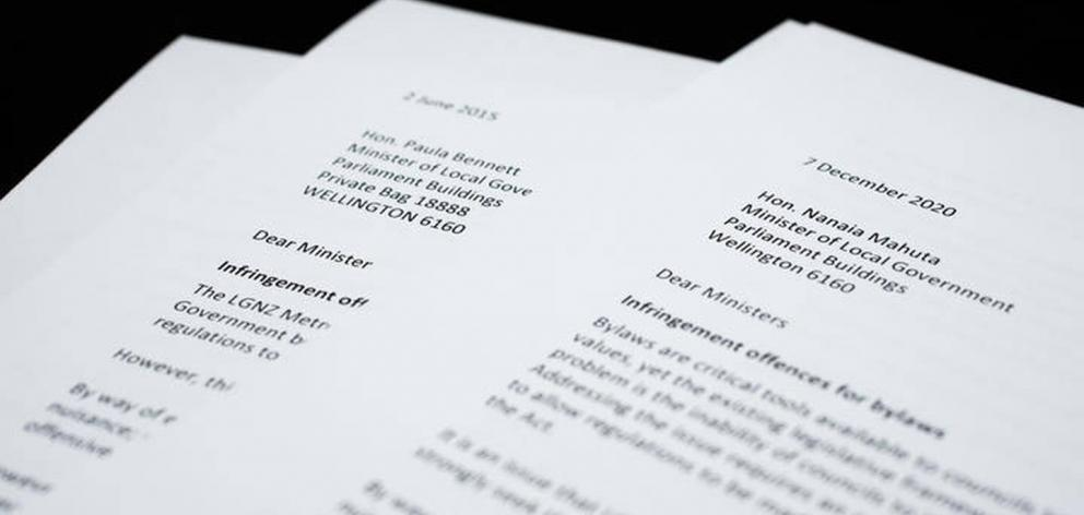 For 18 years, Local Government New Zealand has been writing to ministers asking them to amend the law. Photo / Claire Eastham-Farrelly, RNZ