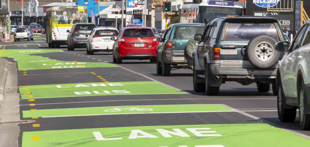 Motorists using the Main North Rd bus lanes at times of operation will be fined $150. Photo:...
