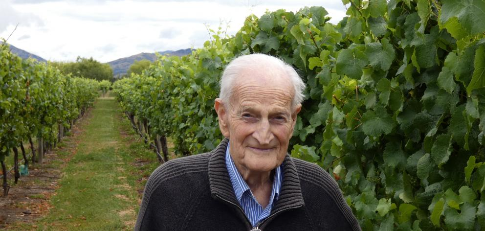 Ewing Stevens hopes the technology will save his grapes from the peckish pests. PHOTO: JARED...