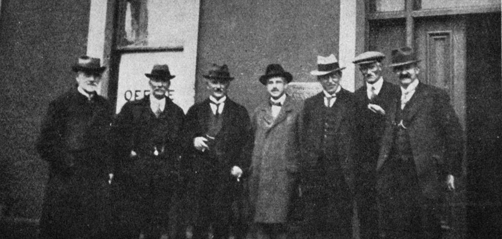 The Belgian consul-general for Australasia pays a visit on February 8, 1921, to the Otago Harbour...