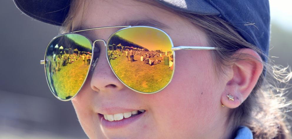 Bella Nichol (10), of Lee Stream, enjoys the rodeo.