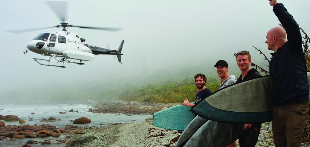 Reaching the Awarua Guides hunting cabin requires an all-day hike or a 15-minute helicopter ride....