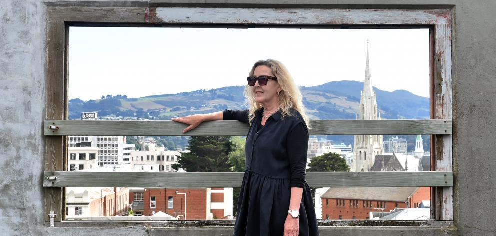 Jo St Baker has been inspired by the views through the ''windows'' on the roof of her apartment...