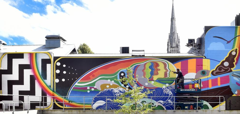 As part of the development of the Clinical Services Building, Dunedin muralist Guy Howard-Smith ...