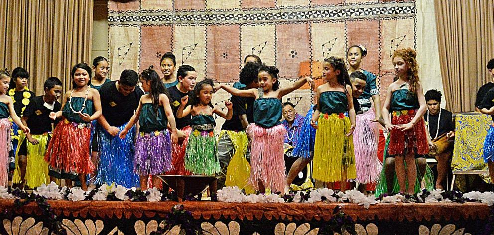 Cook Islands tamure dancers take the stage. PHOTO: CAROL EDWARDS