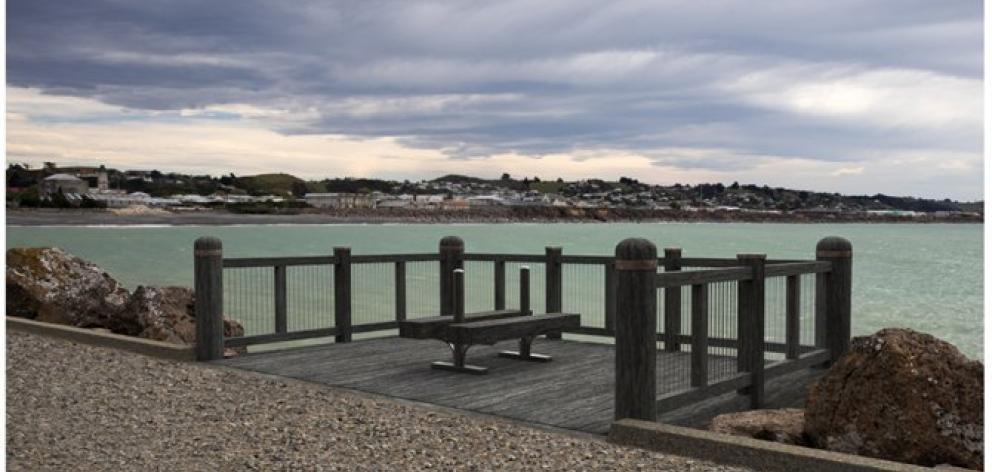 The Waitaki District Council's plans for a new observatory deck on Oamaru's Holmes Wharf, as...