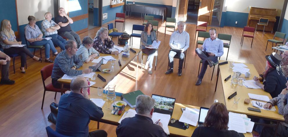 Waikouaiti Coast Community Board members and Dunedin City Council and health officials discuss...