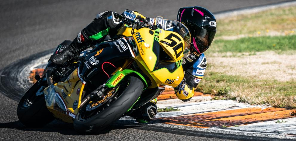 Avalon Biddle on two wheels, which is her usual motorsport. Photo: Aaron Staples Photography.