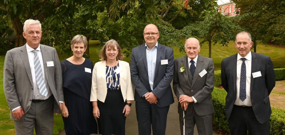 Otago Chartered Accountants Australia and New Zealand Fellowships recipients (from left) Richard...