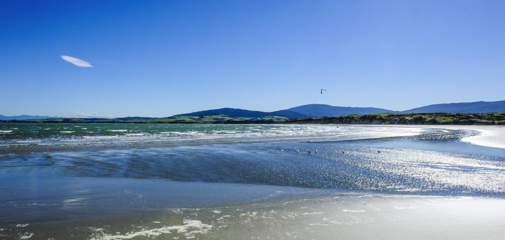 Te Waewae Bay, where the highway turns inland to Tuatapere. PHOTO: GETTY IMAGES