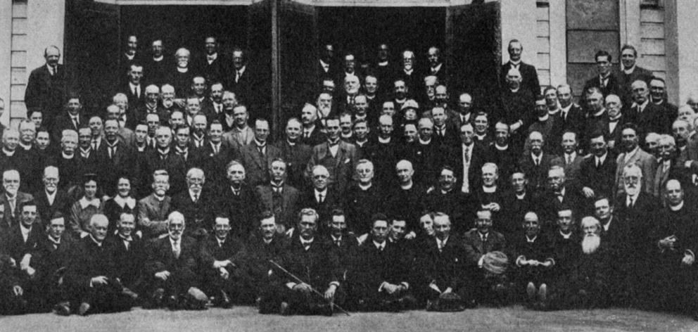 Delegates to the national Methodist conference held in Wellington. — Otago Witness, 15.3.1921.
