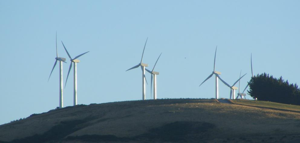 Pioneer Energy's Mt Stuart wind farm, near Milton. Photo: ODT.