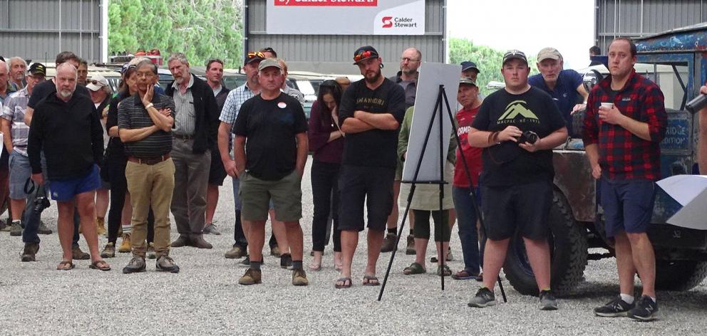 National Land Rover Owners rally Wanaka organiser Rod Corbett welcomes rally participants to the...