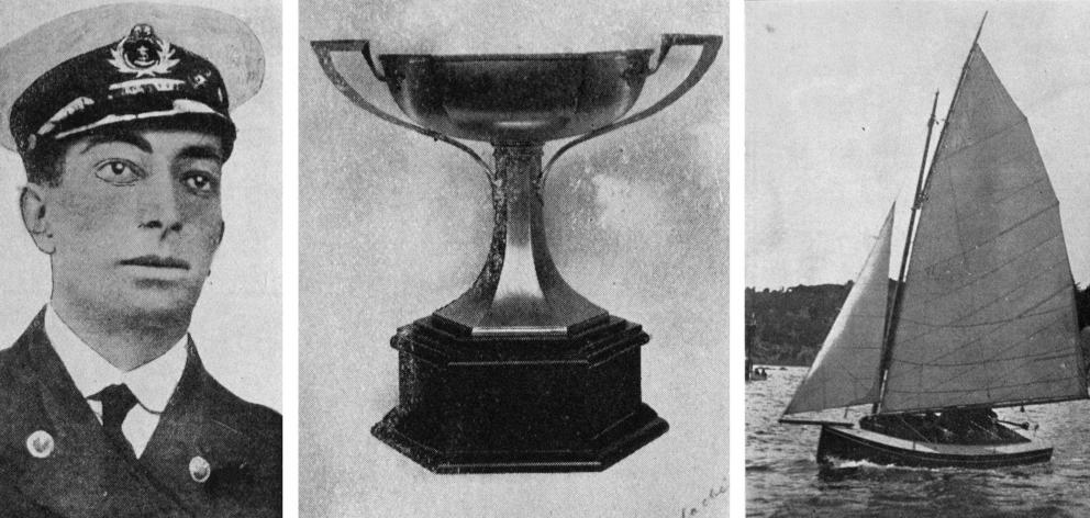 Lieutenant Commander William Sanders, the yachting trophy named in his memory and Heather, the...