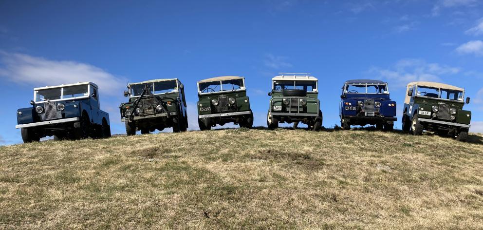 Landys line up ready for Wheels at Wanaka. PHOTOS: MARY-JO TOHILL