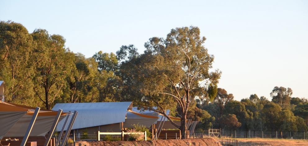 The Zoofari Animal View Lodge lies inside Taronga Western Plains Zoo in Dubbo, News South Wales.
