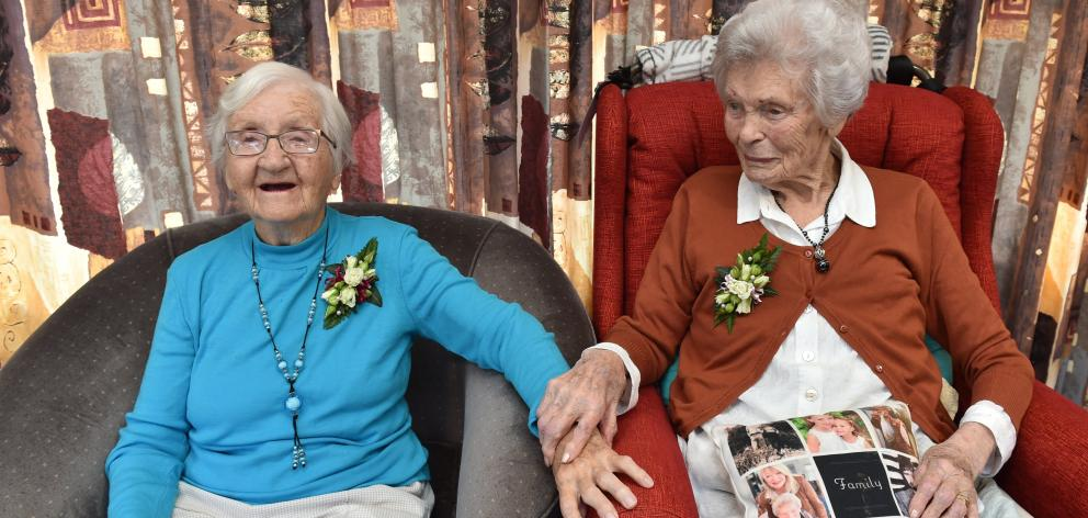 Birchleigh Residential Care Unit residents Elma McRobbie (left) and Vi Byers will celebrate their...
