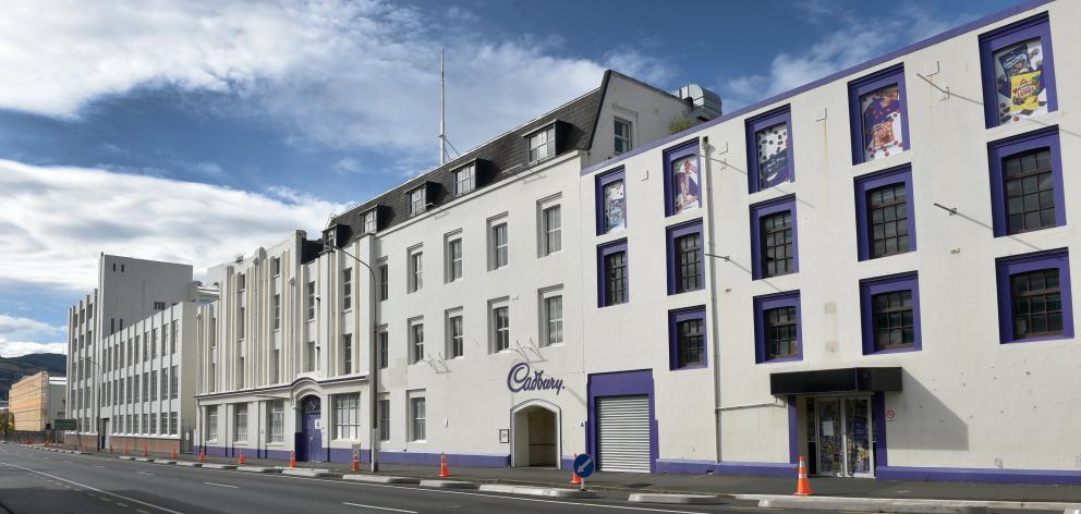 The Cadbury factory's Cumberland St, Dunedin, facade. ODT FILES