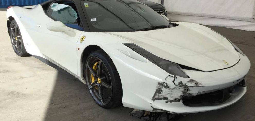 The damaged Ferrari is believed to have sold at auction in October for at least $50,000. Image:...