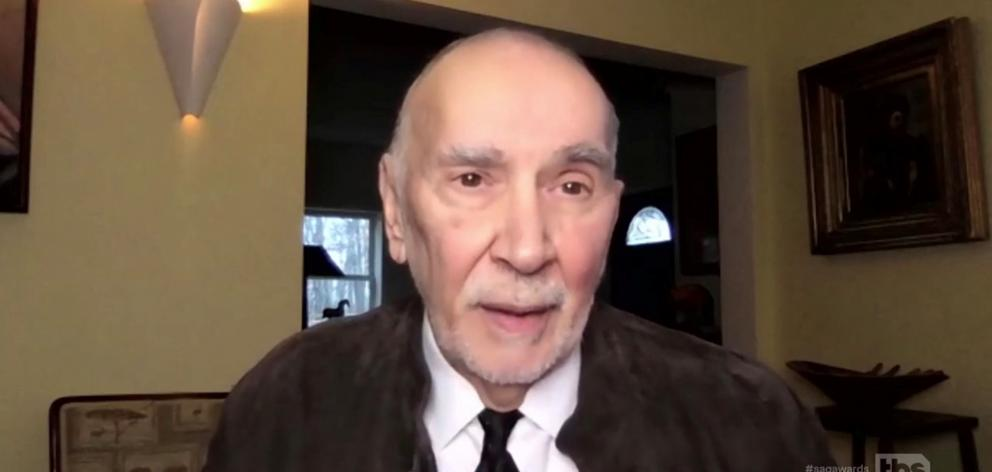 Frank Langella accepts the Actor for Outstanding Performance by a Cast in a Motion Picture for ...