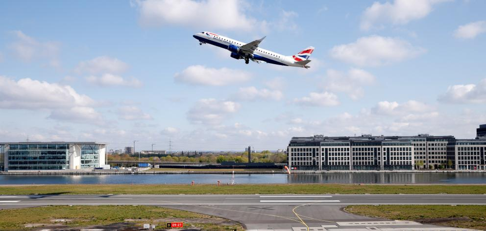 A British Airways aircraft takes off from London City Airport on Thursday. Photo: Reuters