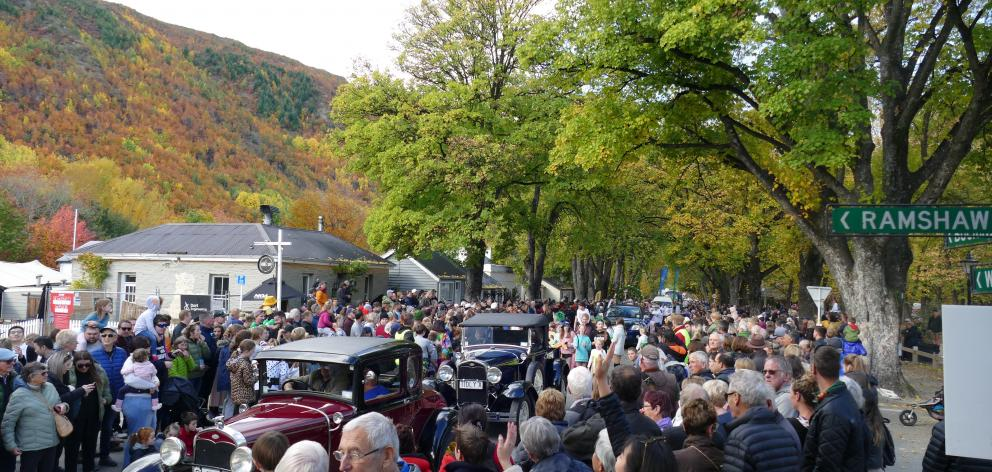 Thousands of people descended on Arrowtown for the market day and street parade, which included...