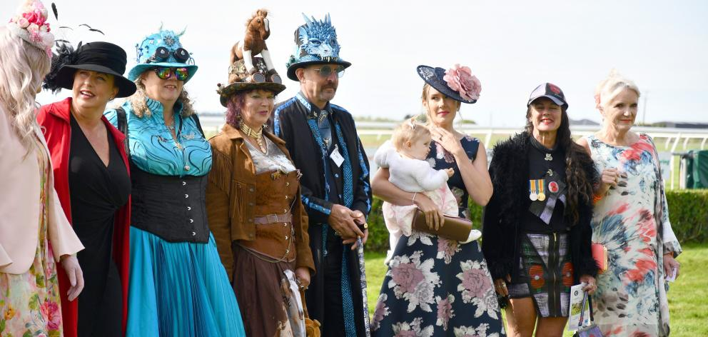 Entrants in the fashion in the field competition.