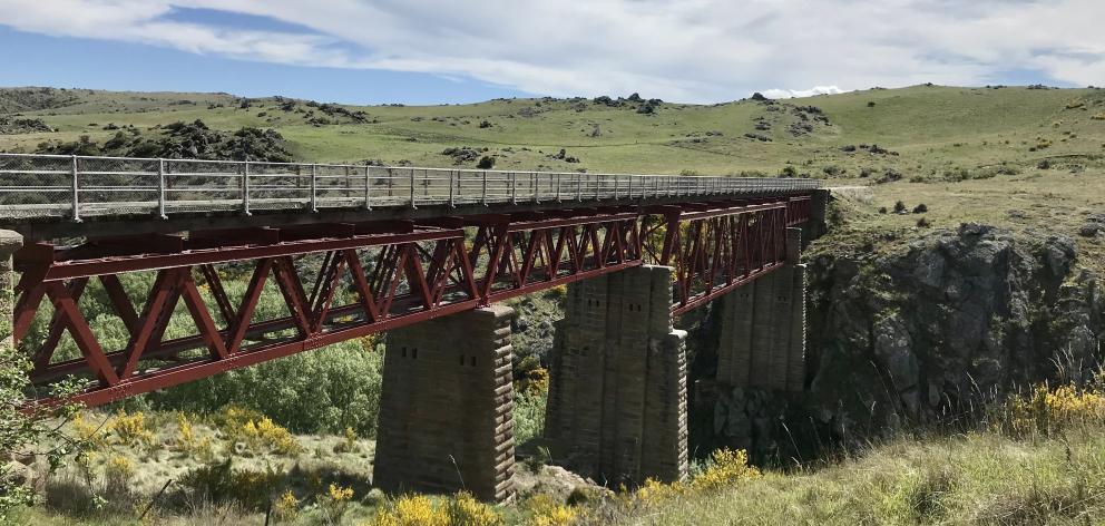 A viaduct on the Otago Central Rail Trail. PHOTO: GRANT BRADLEY