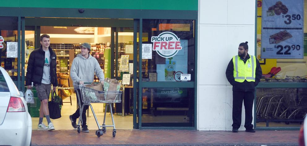 Shoppers headed back into Countdown Dunedin Central yesterday for the first time since Monday's...