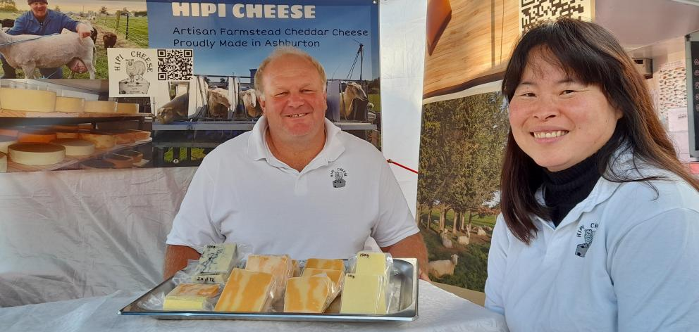Allan and Jacy Ramsay will continue to offer an alternative A2 cheese product for people with their boutique Hipi Cheese range. PHOTO TONI WILLIAMS