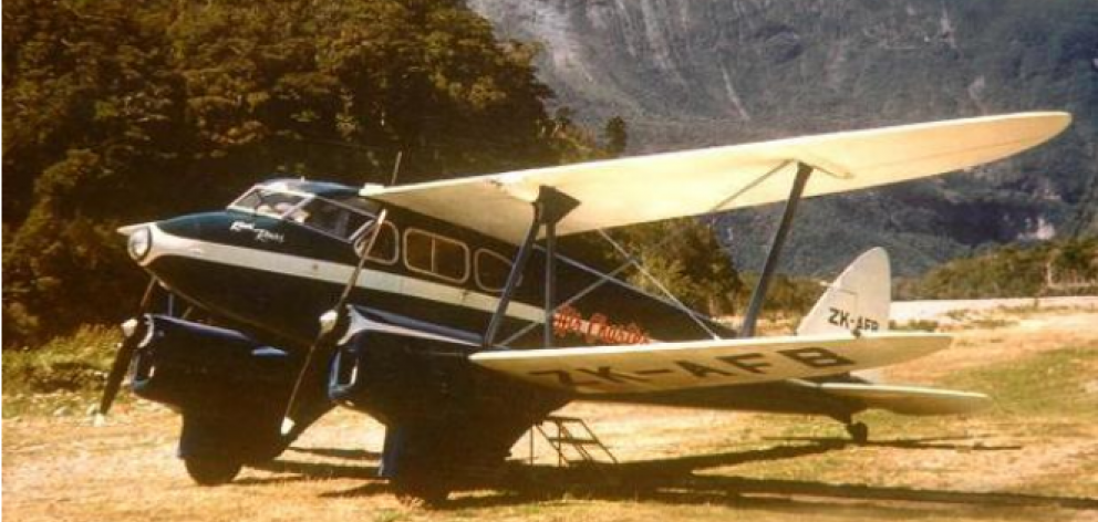 Brian Chadwick's Dragonfly-type plane went missing between Christchurch and Milford Sound on 12...