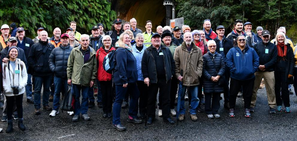 More than 40 guests, including those who built it, joined Meridian Energy staff at the Manapouri...