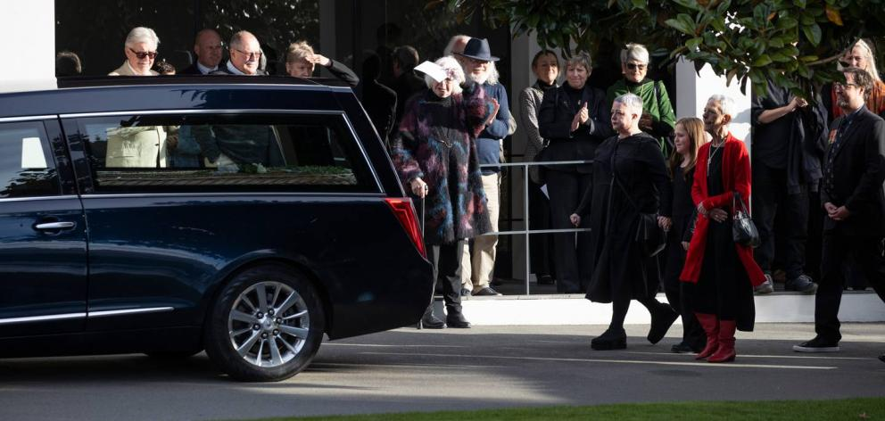 David McPhail was farewelled by family and friends at Westpark Chapel in Christchurch this...
