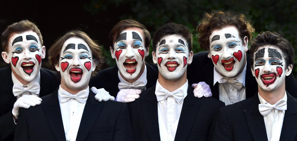 The University of Otago Capping Sextet, comprising (from left) James Smythe (23), Finn Shaw (22),...