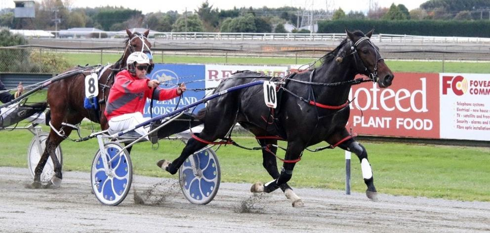You're So Fine wins the group 2 Diamond Creek Farm Stakes at Ascot Park yesterday for driver...