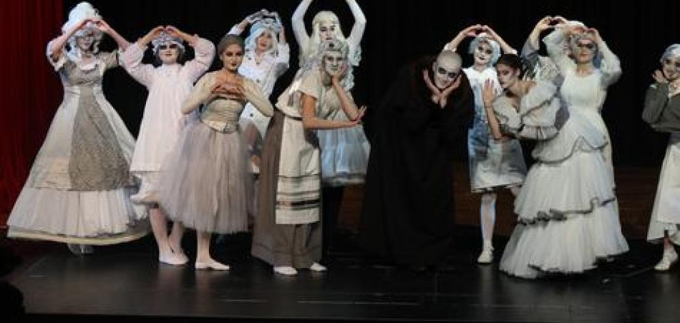 Seth Allen as Fester is accompanied on stage by the ancestors. Photo: Supplied