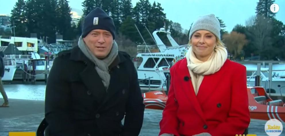 The Today Show broadcasted from Queenstown on Friday. Photo: Supplied