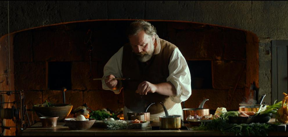 Gregory Gadebois in Delicious, a film of food and revolution, not necessarily in that order.