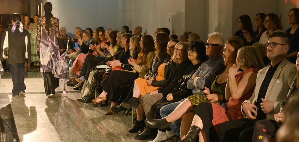 Garments of 11 New Zealand finalists and five Australian finalists were showcased on the runway...