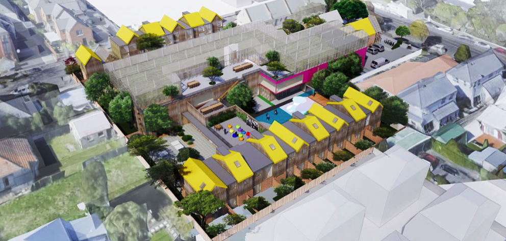 An artist's impression of the Christchurch Youth Hub development. Image: Supplied