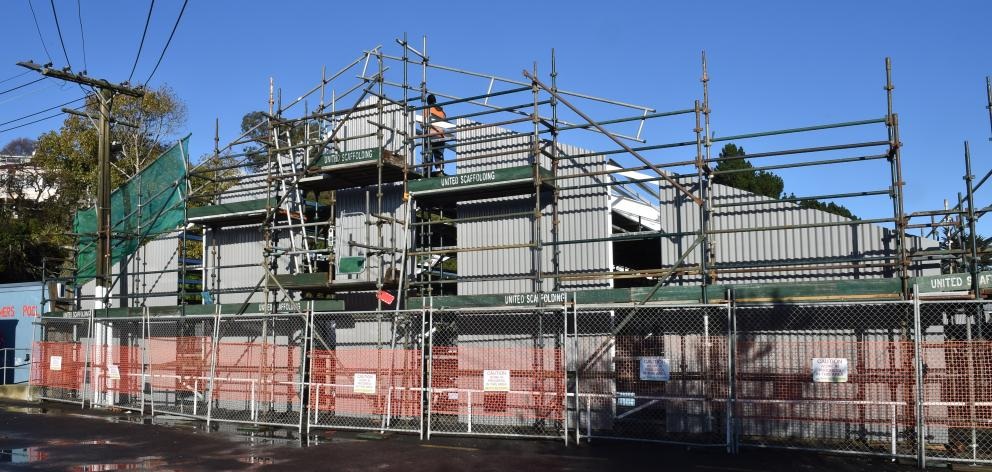 Some serious refurbishment work is happening at the Port Chalmers Pool. Photo: Gregor Richardson