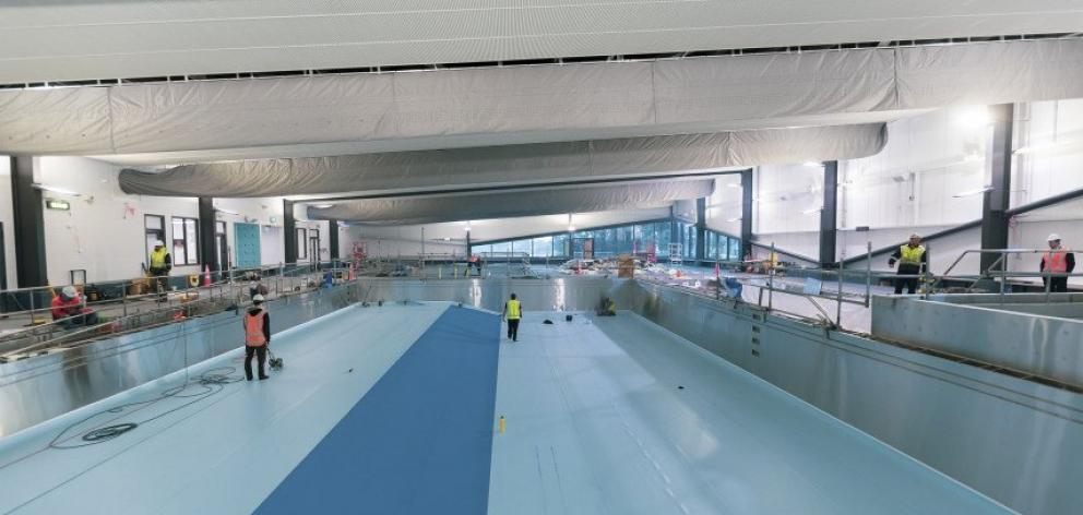 The $22 million Te Pou Toetoe: Linwood Pool complex is set to open on October 1. Photo: Newsline